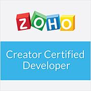Creator-Certified-developer Zoho Creator