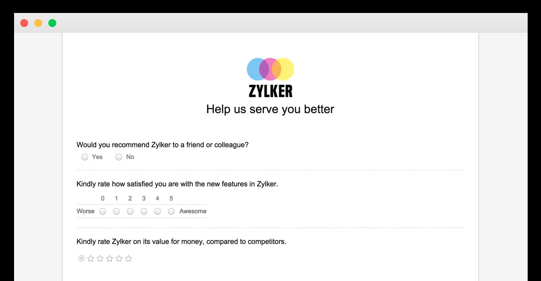 Zoho-Survey Zoho Survey
